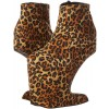 Leopard Print Boots Platform Wedge High Heel Shoes US Size 3-15 thumb 3