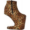 Leopard Print Boots Platform Wedge High Heel Shoes US Size 3-15 thumb 4
