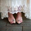 Women's Nude Rhinestone Flower Wedding Flats thumb 2