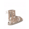 Women's Light Brown Hollow-out Flat Gladiator Sandals thumb 3