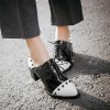 Black and White Patent Leather Vintage Shoes Women's Brogues thumb 3