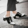 Black and White Patent Leather Vintage Shoes Women's Brogues thumb 4