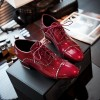 Women's Burgundy Cute Vintage Shoes Women's Brogues thumb 3