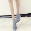Grey Vintage Heels Pointy Toe Stiletto Heels Ankle Booties thumb 2
