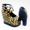 Leopard Print Shoes Suede Wedge Heels with Platform thumb 2