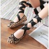 Leopard Print Flats Suede Strappy Shoes US Size 3-15 thumb 2