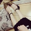 Leopard Print Shoes Ankle Strap Chunky Heels Closed Toe Sandals thumb 2