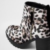 Leopard Print Boots Chunky Heels Round Toe Ankle Boots US Size 3-15 thumb 3