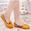 Yellow Round Toe Leopard Flats Comfortable Loafers for Women thumb 3