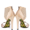 Nude And Champagne Ankle Strap Sandals Stiletto Heels Pumps thumb 2