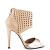 Nude And Champagne Ankle Strap Sandals Stiletto Heels Pumps thumb 3