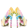 White Tiger-print Stiletto Heels Almond Toe Platform Shoes For Women thumb 4