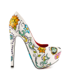 Women's Cute Flower Printed Stiletto Heels Almond Toe Platform Heels thumb 6