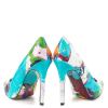 Graffiti Printed 4 Inch heels Pointy Toe Stiletto Heels Pumps For Women  thumb 3