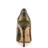 Black and Gold 4 Inch Heels Floral Printed Pointy Toe Stiletto Heels Pumps thumb 2