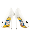 White Stiletto Heels Office Shoes Floral Heels Pumps thumb 3