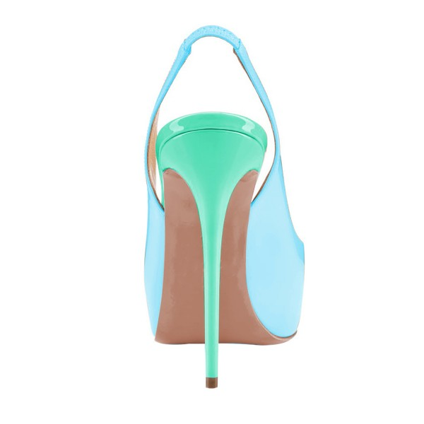 Women's Cute Cyan Slingback Sandals image 3