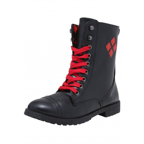 Harley Quinn's Lace-up Ankle Vintage Boots for Halloween image 2