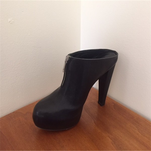 Women's Black Patent Leather Wedge Sandals with Platform image 2