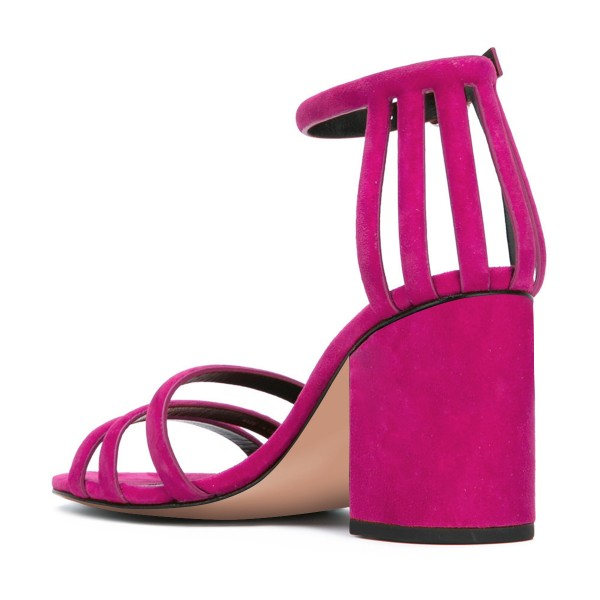 Women's Rose Chunky Heel Ankle Strap Sandals image 3