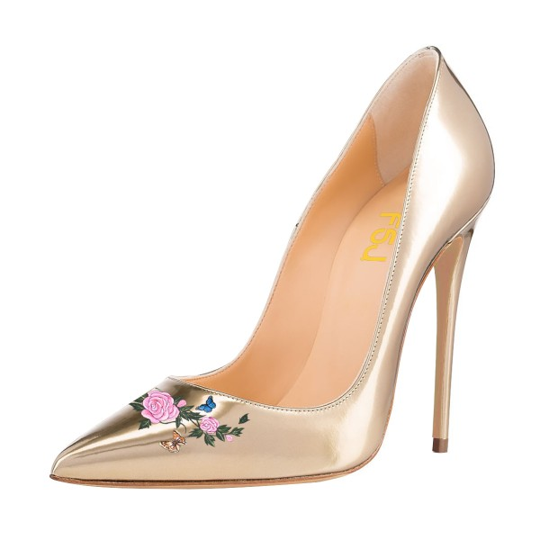 Women's Nude Pointy Toe Stiletto Heels Pumps Dress Shoes  image 1