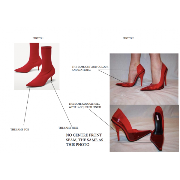 Red Stiletto Heels Dress Shoes Pointy Toe Transparent Pumps image 2