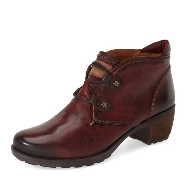 Brown Casual Boots Lace up Vintage Shoes image 1