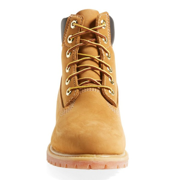 Mustard Flat Ankle Boots Round Toe Lace up Suede Women's Work Boots image 2