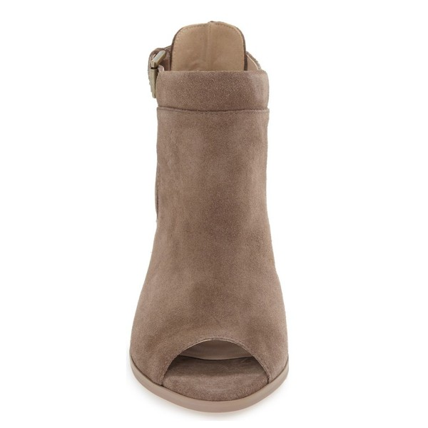 Light Brown Suede Ankle Boots image 2