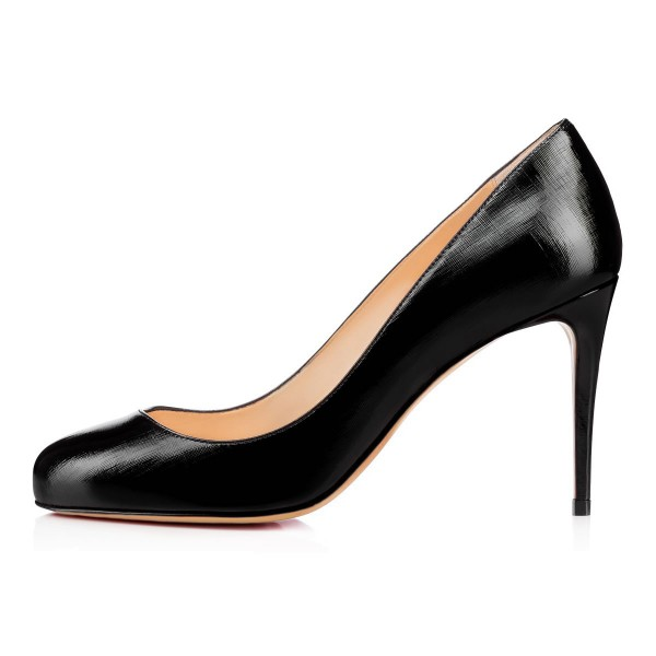 Black Dress Shoes Stiletto Heels Formal Women's Office Heels image 2