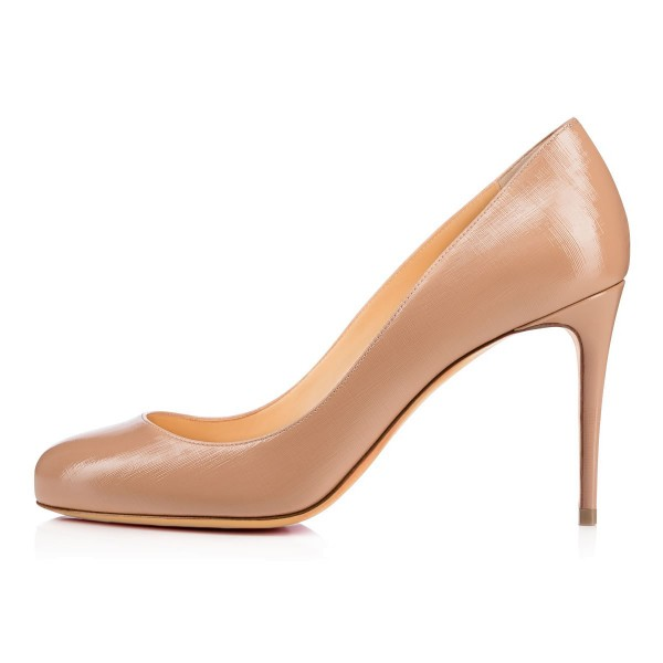 Blush Dress Shoes Round Toe Stiletto Heels Pumps for Women image 5
