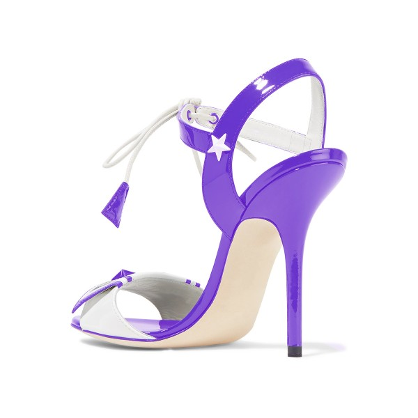 Women's Violet Chic Star Stiletto Heel Strappy  Sandals image 2