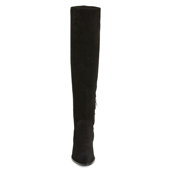 Black Long Boots Flat Knee-high Boots for Women image 3