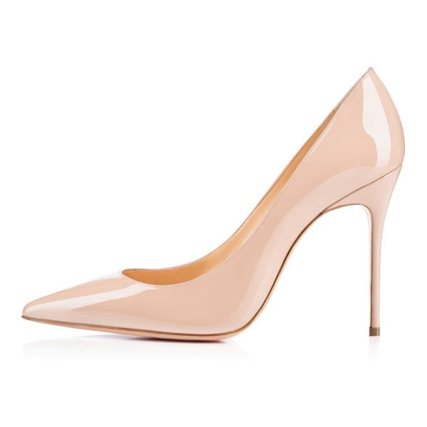 Women's Nude Dress Shoes Pointy Toe Commuting Stiletto Heels Pumps image 3