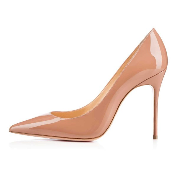 Women's Blush Heels Office Shoes Nude Pumps Dress Shoes by FSJ for ...