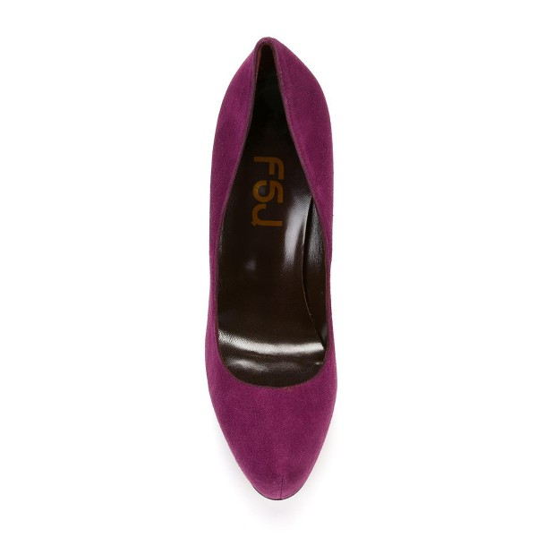 Women's Burgundy Elegant High Heels Pumps Evening Shoes image 2