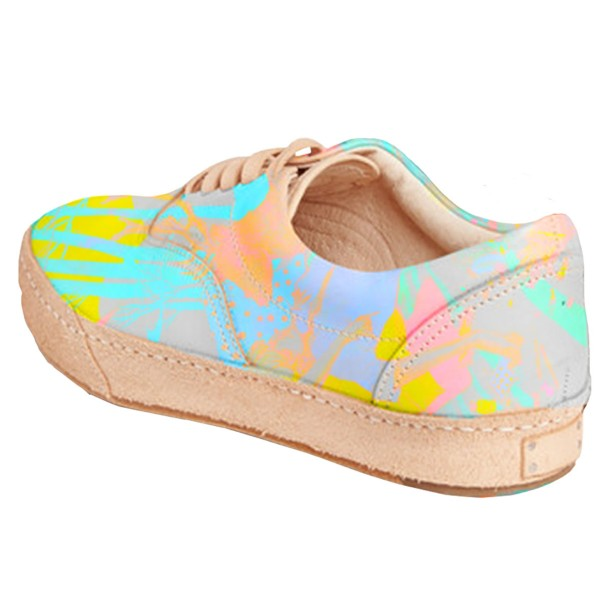 Women's Bright Colors Lace Up Sneakers Comfortable Flats  image 3