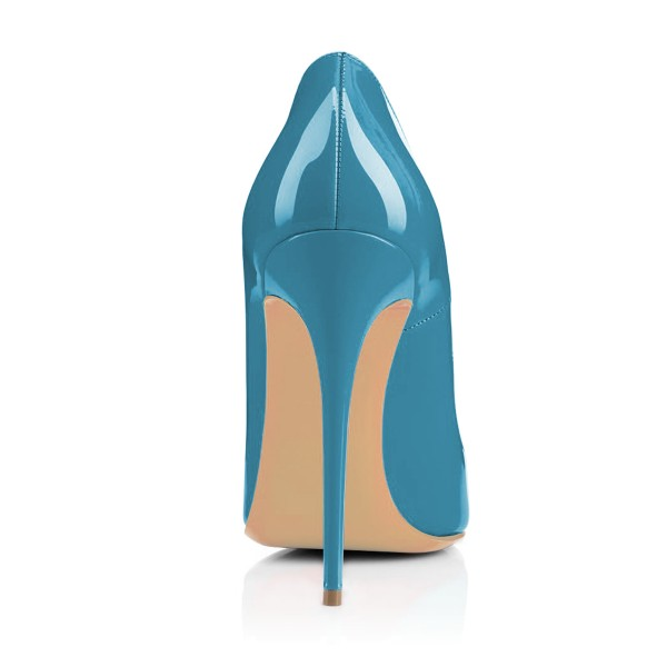 Women's Cyan Pointy Toe Floral Office Heels Stiletto Heels Pumps image 2