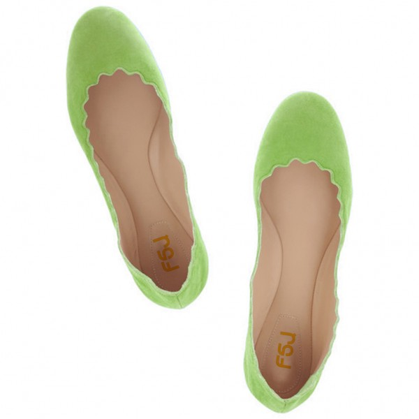 Women's Adorable Green Comfortable Flats  image 2