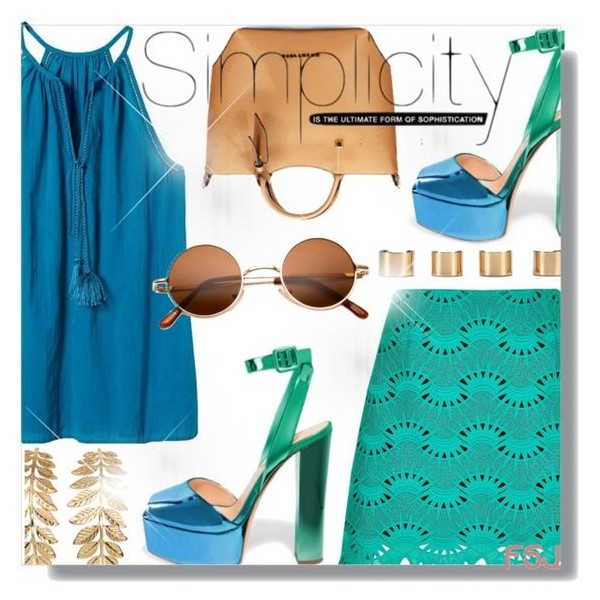 Green and Blue Chunky Heel Sandals Ankle Strap Heels Slingback Sandals image 5