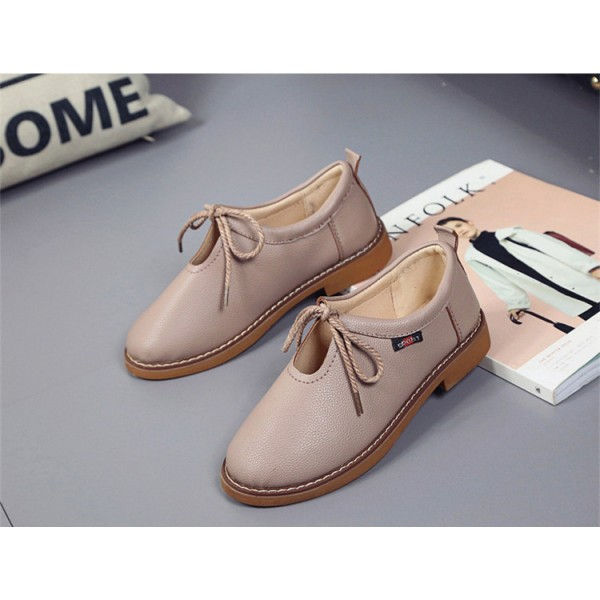 Women's Brown  Elegant Lace Up  Flats Oxfords Vintage Boots image 1