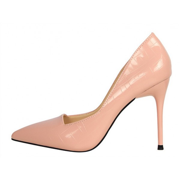 Women's Pink Classic Pointy Toe Commuting Stiletto Heel Pumps 4 Inch Heels image 1
