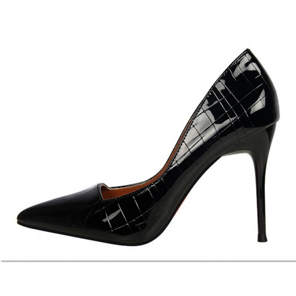 Black Office Heels Formal Dress Shoes Stilettos For Las Image 2