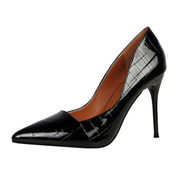 Black Office Heels Formal Dress Shoes Stilettos for Ladies image 1