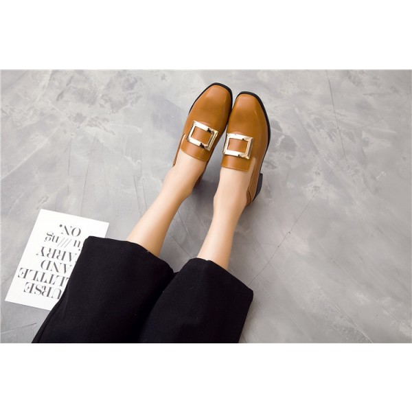 Tan Vintage Shoes Slip-on Loafers Comfortable Flats  image 3