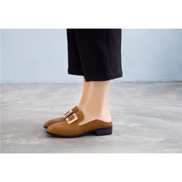 Tan Vintage Shoes Slip-on Loafers Comfortable Flats  image 4