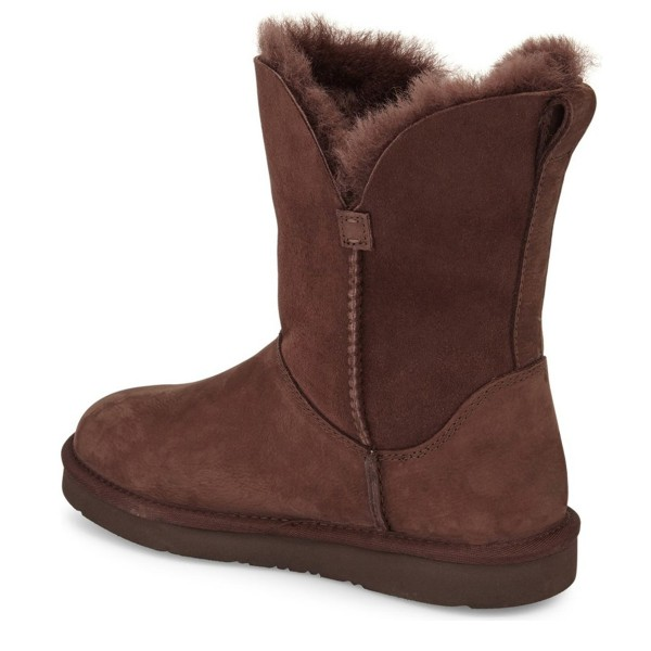 Brown Winter Boots Round Toe Flat Comfy Mid Calf Snow Boots image 2