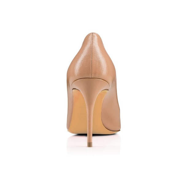 Blush Dress Shoes Round Toe Stiletto Heels Pumps for Women image 3