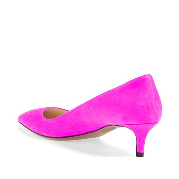 Women's Orchid Pointed Toe Suede Kitten Heels Low-cut Upper Pumps image 3