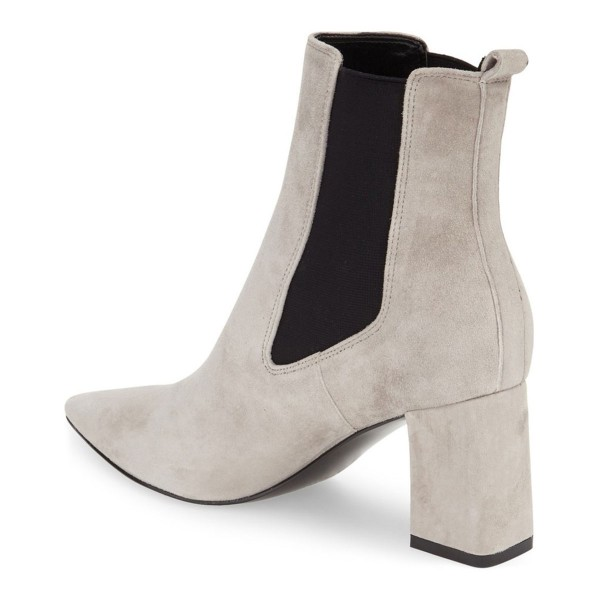 Women's Beige Chelsea Boots Commuting Modern Ankle Chunky Heel Boots image 2